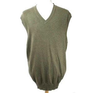 NWT Jos. A Bank 2XT Green Pima Cotton Sweater Vest